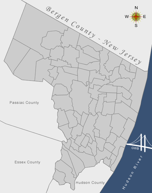 Real Estate Market In Bergen County New Jersey - Map of bergen county nj